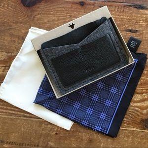 Kiko Leather Passport Holder & 2 Silk Squares
